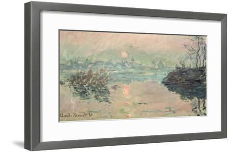 Sunset, 1880-Claude Monet-Framed Art Print