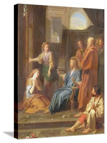 Christ in the House of Martha and Mary-Jean-Baptiste Jouvenet-Stretched Canvas Print