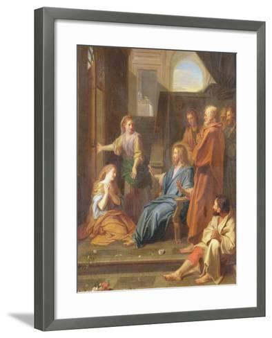 Christ in the House of Martha and Mary-Jean-Baptiste Jouvenet-Framed Art Print