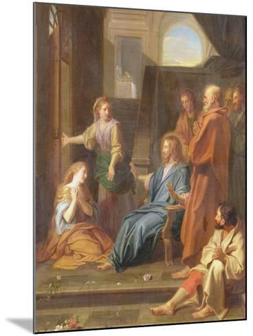 Christ in the House of Martha and Mary-Jean-Baptiste Jouvenet-Mounted Giclee Print