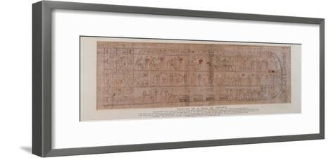 Section of Papyrus Inscribed with Cursive Hieroglyphs--Framed Art Print