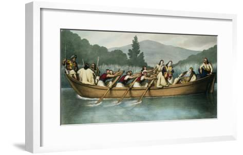 Ali Pasha of Janina Hunting on Lake Butrinto in March 1819-Louis Dupr?-Framed Art Print