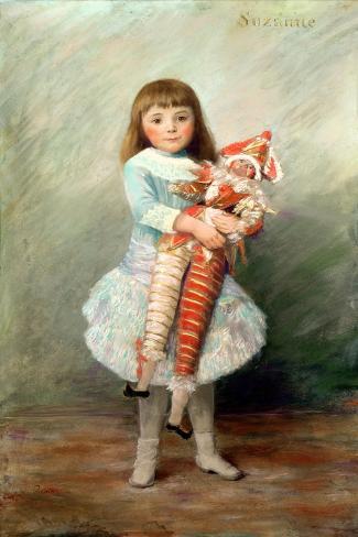 Suzanne-Pierre-Auguste Renoir-Stretched Canvas Print