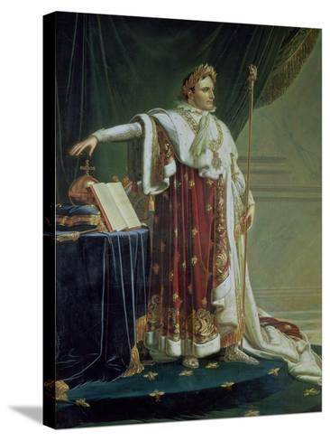 Portrait of Napoleon I in His Coronation Robes, 1804-Anne-Louis Girodet de Roussy-Trioson-Stretched Canvas Print