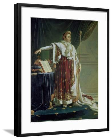 Portrait of Napoleon I in His Coronation Robes, 1804-Anne-Louis Girodet de Roussy-Trioson-Framed Art Print