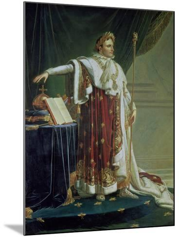 Portrait of Napoleon I in His Coronation Robes, 1804-Anne-Louis Girodet de Roussy-Trioson-Mounted Giclee Print