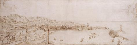 A Panoramic View of Livorno-Petrus Tola-Stretched Canvas Print
