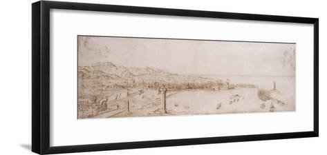 A Panoramic View of Livorno-Petrus Tola-Framed Art Print
