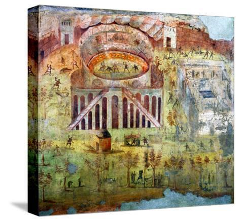 A Fight in the Amphitheatre, 59 Ad, Battle Between Citizens of Pompeii and Neceria--Stretched Canvas Print