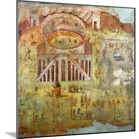 A Fight in the Amphitheatre, 59 Ad, Battle Between Citizens of Pompeii and Neceria--Mounted Giclee Print