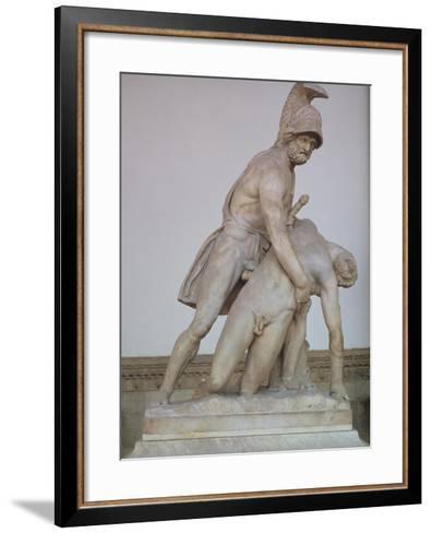 Menelaus Supporting the Body of Patroclus, Roman Copy of a Greek Original, 150-125 BC--Framed Art Print