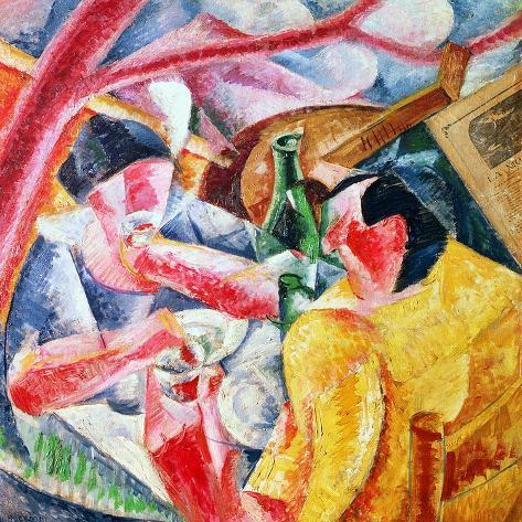 Under the Pergola at Naples, 1914-Umberto Boccioni-Stretched Canvas Print