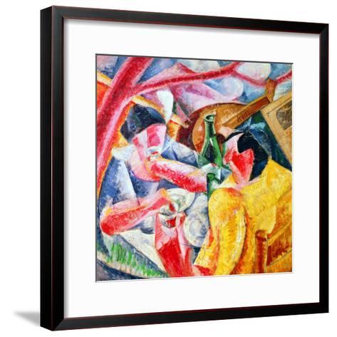 Under the Pergola at Naples, 1914-Umberto Boccioni-Framed Art Print
