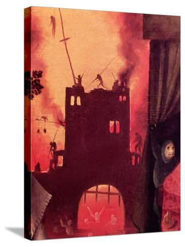 Tondal's Vision, Detail of the Burning Gateway-Hieronymus Bosch-Stretched Canvas Print