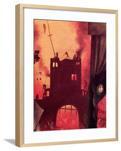 Tondal's Vision, Detail of the Burning Gateway-Hieronymus Bosch-Framed Art Print