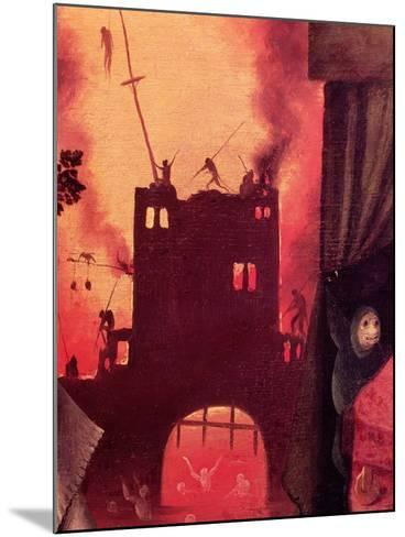 Tondal's Vision, Detail of the Burning Gateway-Hieronymus Bosch-Mounted Giclee Print