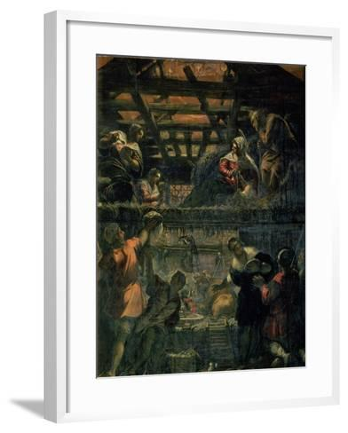 The Adoration of the Shepherds, 1578-81-Jacopo Robusti Tintoretto-Framed Art Print