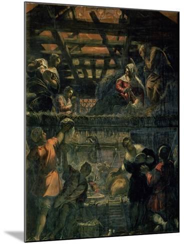 The Adoration of the Shepherds, 1578-81-Jacopo Robusti Tintoretto-Mounted Giclee Print
