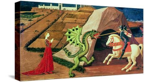 St. George and the Dragon, circa 1439-40-Paolo Uccello-Stretched Canvas Print