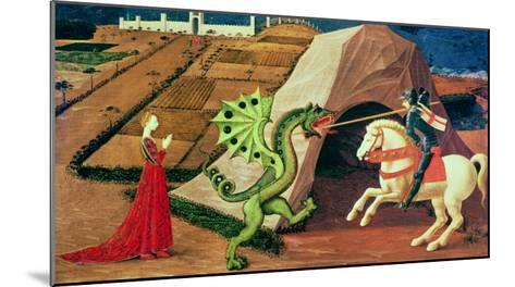 St. George and the Dragon, circa 1439-40-Paolo Uccello-Mounted Giclee Print