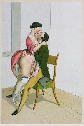 Two Lovers, Published 1835, Reprinted in 1908-Peter Fendi-Stretched Canvas Print