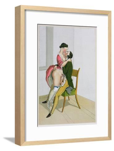 Two Lovers, Published 1835, Reprinted in 1908-Peter Fendi-Framed Art Print