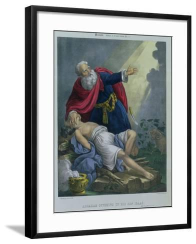 Abraham Offering up His Son Isaac, from a Bible Printed by Edward Gover, 1870s-Siegfried Detler Bendixen-Framed Art Print