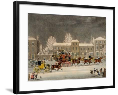 The Approach to Christmas-James Pollard-Framed Art Print
