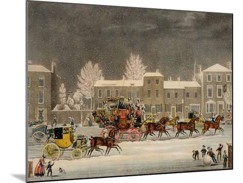 The Approach to Christmas-James Pollard-Mounted Giclee Print