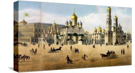 Cathedrals of the Annunciation and the Archangel, from a Panorama of Moscow-Dmitri Indieitzeff-Stretched Canvas Print