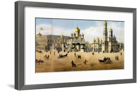 Cathedrals of the Annunciation and the Archangel, from a Panorama of Moscow-Dmitri Indieitzeff-Framed Art Print