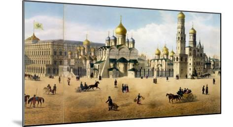 Cathedrals of the Annunciation and the Archangel, from a Panorama of Moscow-Dmitri Indieitzeff-Mounted Giclee Print