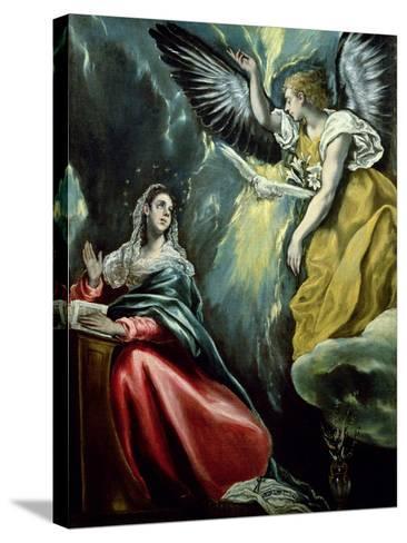 The Annunciation, circa 1575-El Greco-Stretched Canvas Print