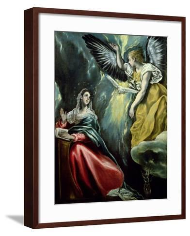 The Annunciation, circa 1575-El Greco-Framed Art Print