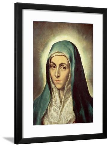 The Virgin Mourning-El Greco-Framed Art Print