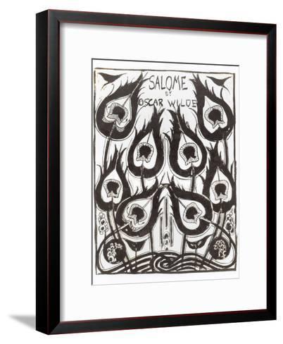 "Original Sketch for the Cover of ""Salome"" by Oscar Wilde circa 1894-Aubrey Beardsley-Framed Art Print"