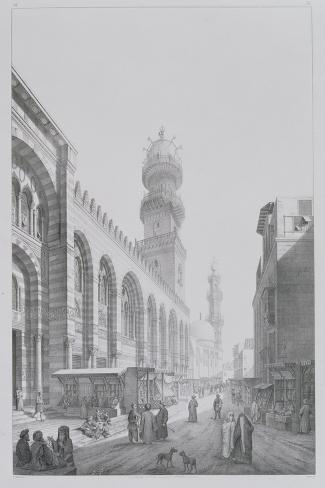"Exterior of the Mosque of Qalaoun, Plate 20 from ""Monuments and Buildings of Cairo""-Pascal Xavier Coste-Stretched Canvas Print"