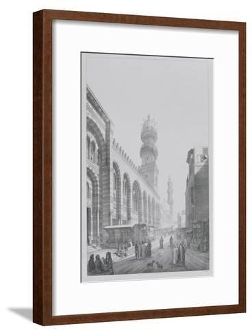 "Exterior of the Mosque of Qalaoun, Plate 20 from ""Monuments and Buildings of Cairo""-Pascal Xavier Coste-Framed Art Print"