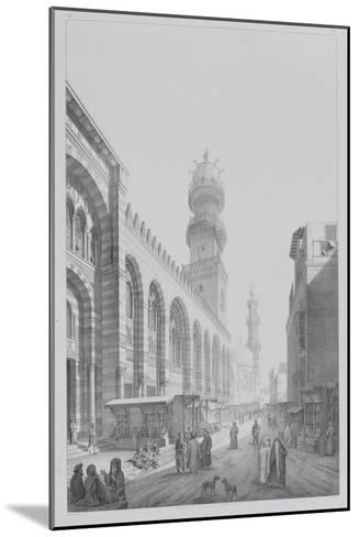 "Exterior of the Mosque of Qalaoun, Plate 20 from ""Monuments and Buildings of Cairo""-Pascal Xavier Coste-Mounted Giclee Print"