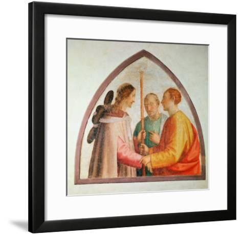 Christ Appearing on the Road to Emmaus-Fra Bartolommeo-Framed Art Print