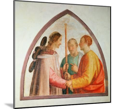 Christ Appearing on the Road to Emmaus-Fra Bartolommeo-Mounted Giclee Print