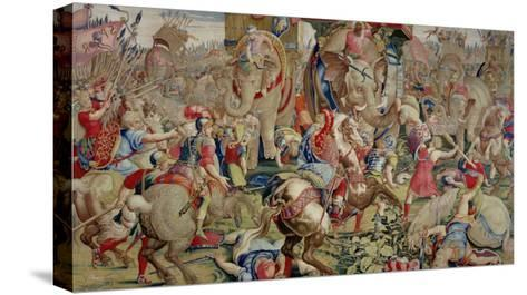 The Battle of Zama, by Giulio Romano--Stretched Canvas Print