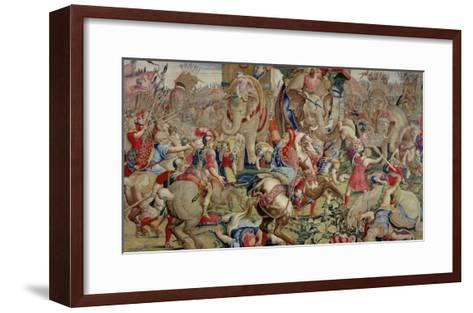 The Battle of Zama, by Giulio Romano--Framed Art Print