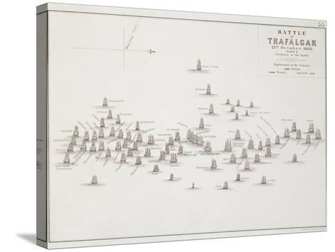 The Battle of Trafalgar, 21st October 1805, Positions in the Battle, circa 1830s-Alexander Keith Johnston-Stretched Canvas Print