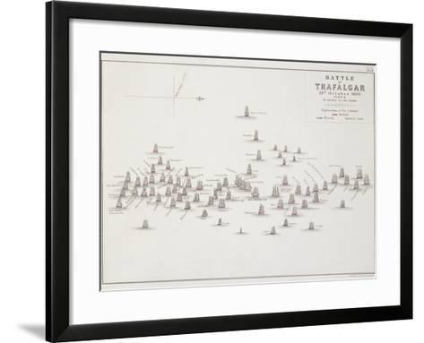 The Battle of Trafalgar, 21st October 1805, Positions in the Battle, circa 1830s-Alexander Keith Johnston-Framed Art Print