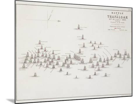 The Battle of Trafalgar, 21st October 1805, Positions in the Battle, circa 1830s-Alexander Keith Johnston-Mounted Giclee Print