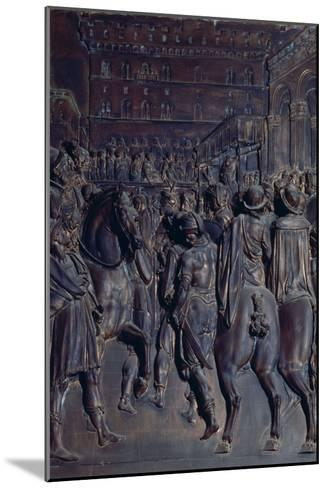 St. Agostino Preaching to the Florentines, Relief from the Salviati Chapel-Giambologna-Mounted Giclee Print