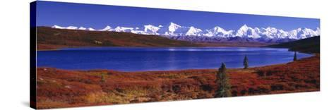 Wonder Lake in Autumn, Alaska, USA--Stretched Canvas Print