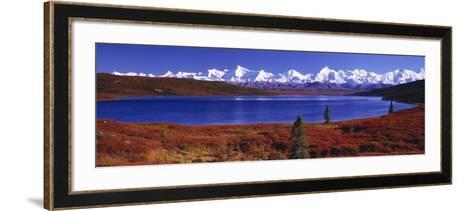 Wonder Lake in Autumn, Alaska, USA--Framed Art Print