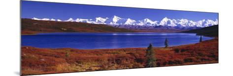 Wonder Lake in Autumn, Alaska, USA--Mounted Photographic Print
